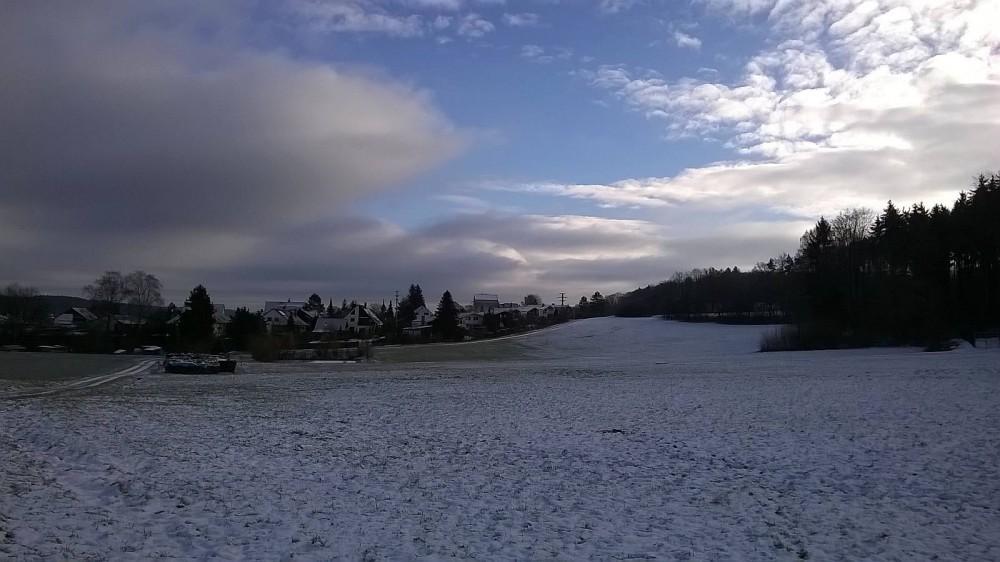 Einer der wenigen Tage mit Schnee